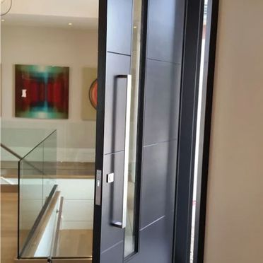 Exterior door interior view